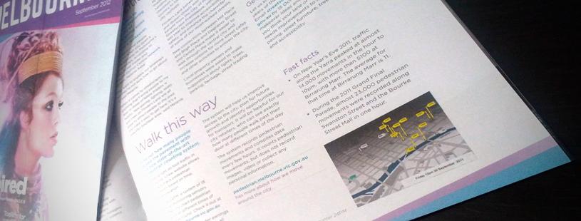 OOMCreative pedestrian data magazine